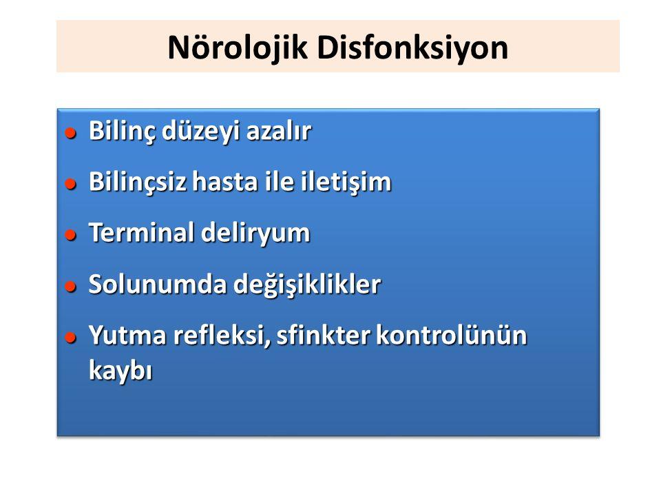 Nörolojik Disfonksiyon