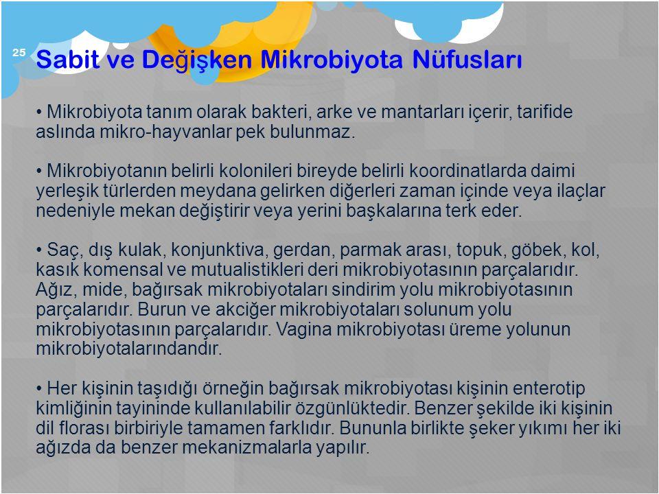 Sabit ve Değişken Mikrobiyota Nüfusları