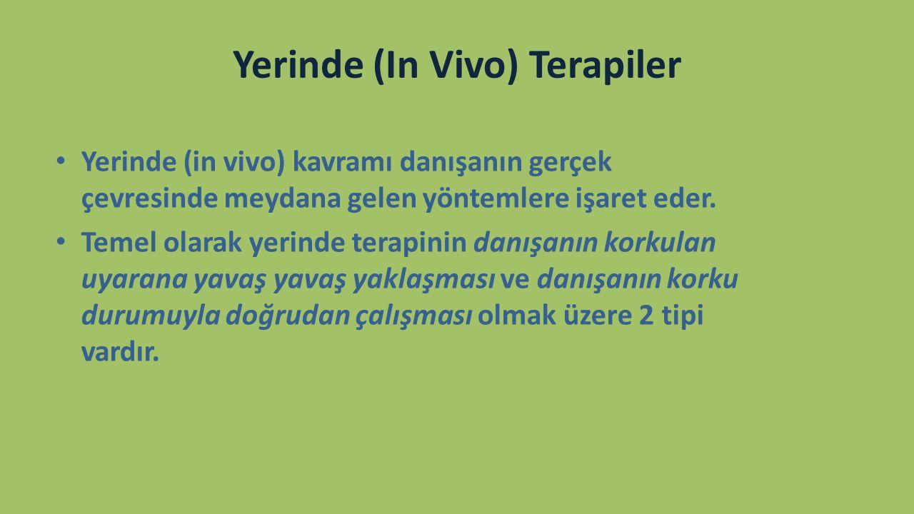 Yerinde (In Vivo) Terapiler