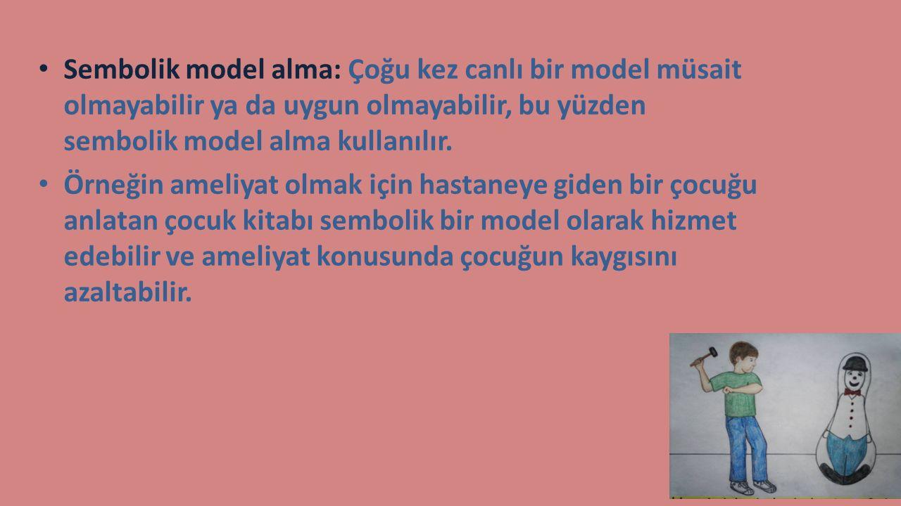 Sembolik model alma: Çoğu kez canlı bir model müsait olmayabilir ya da uygun olmayabilir, bu yüzden sembolik model alma kullanılır.