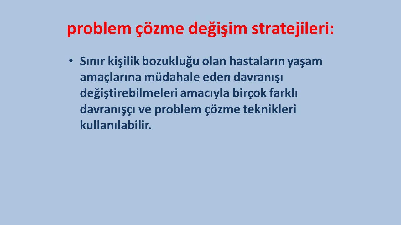 problem çözme değişim stratejileri: