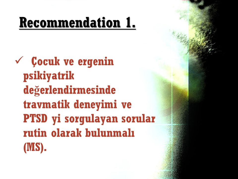 Recommendation 1.