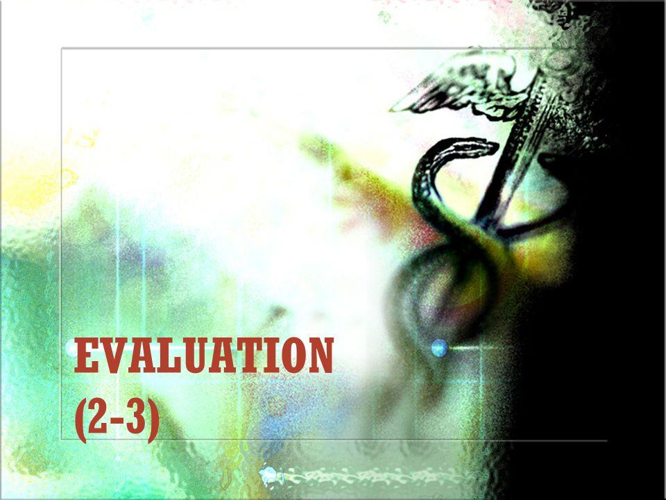 EVALUATION (2-3)