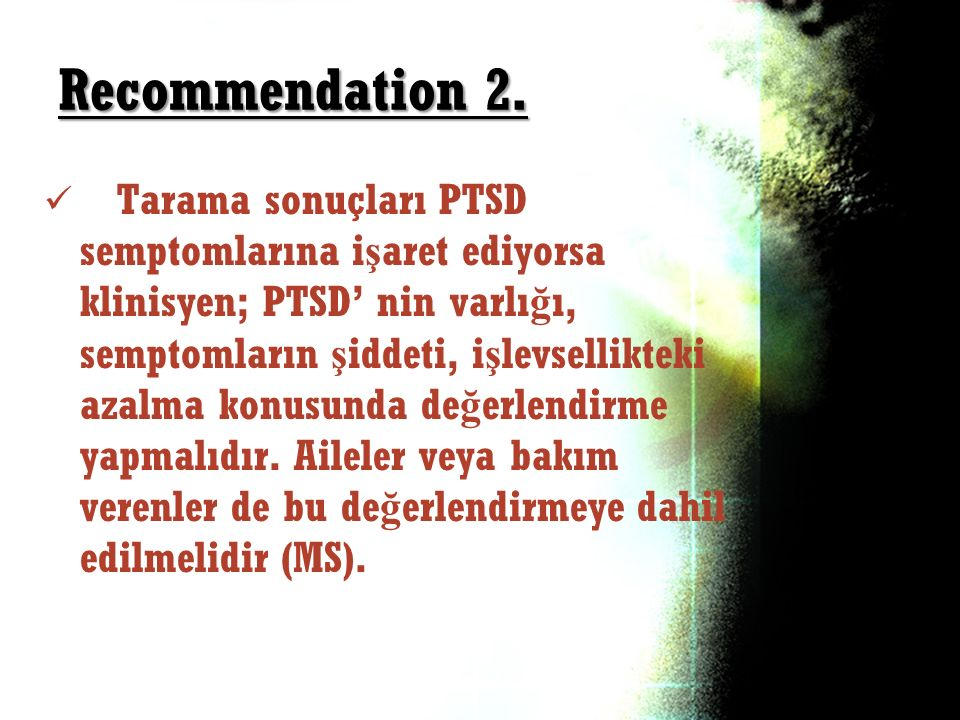 Recommendation 2.