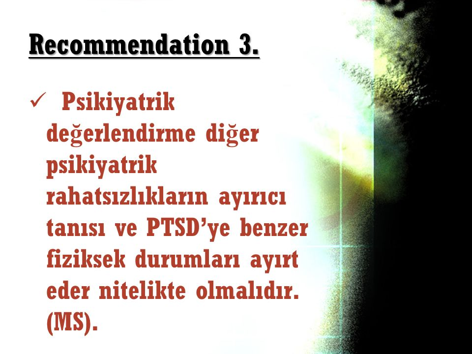 Recommendation 3.