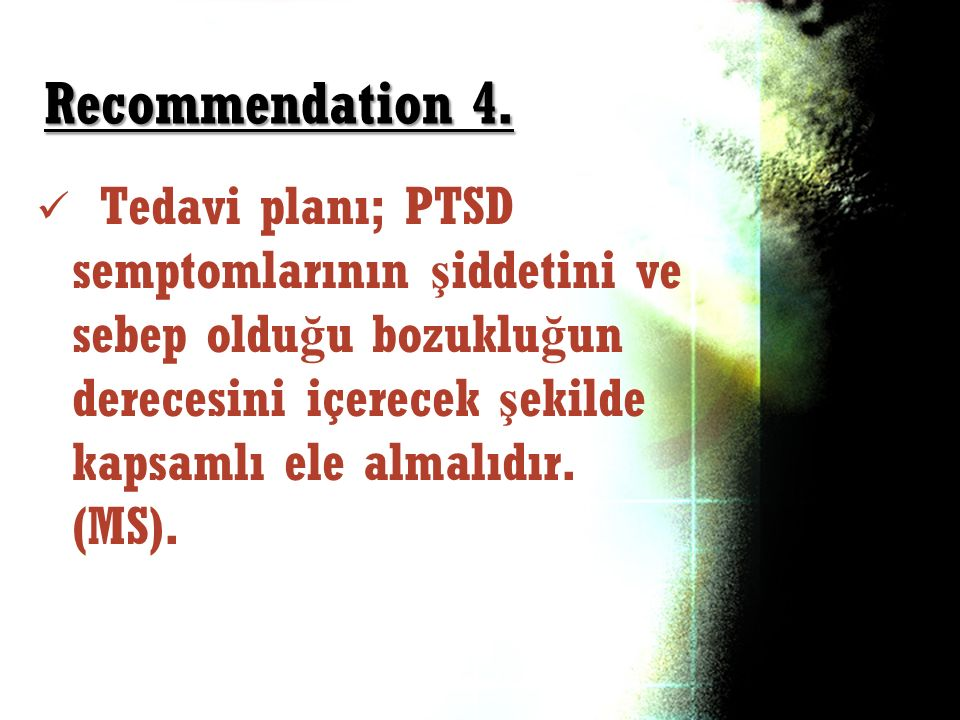 Recommendation 4.