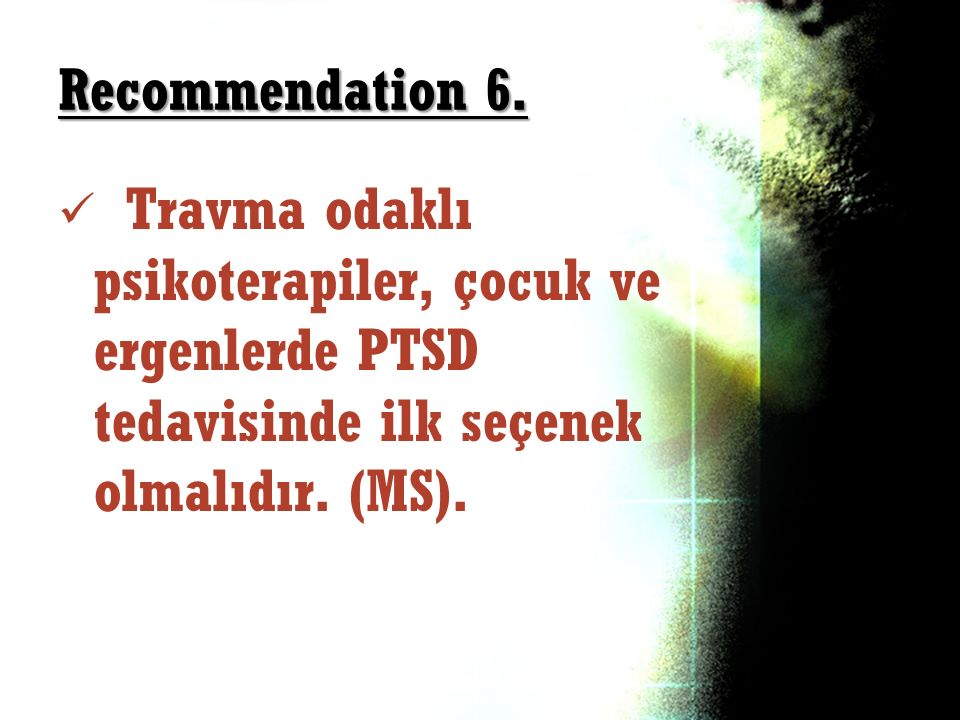 Recommendation 6.