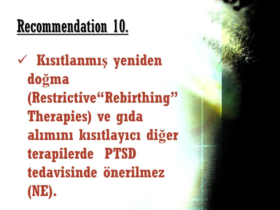 Recommendation 10.
