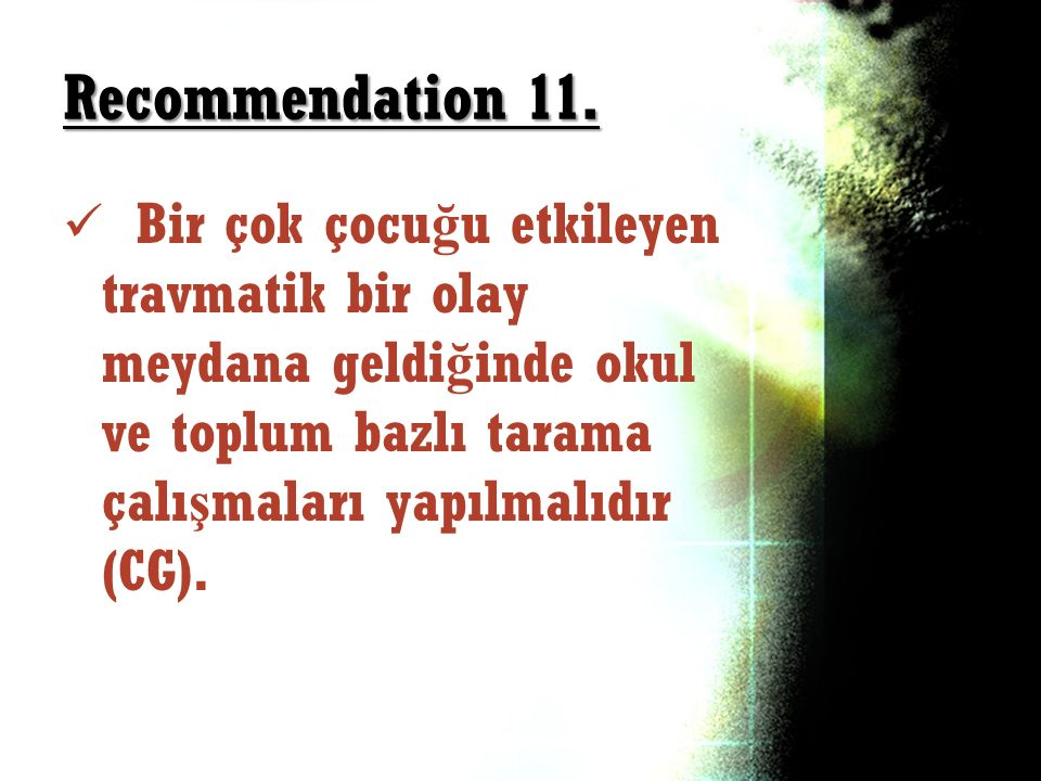 Recommendation 11.