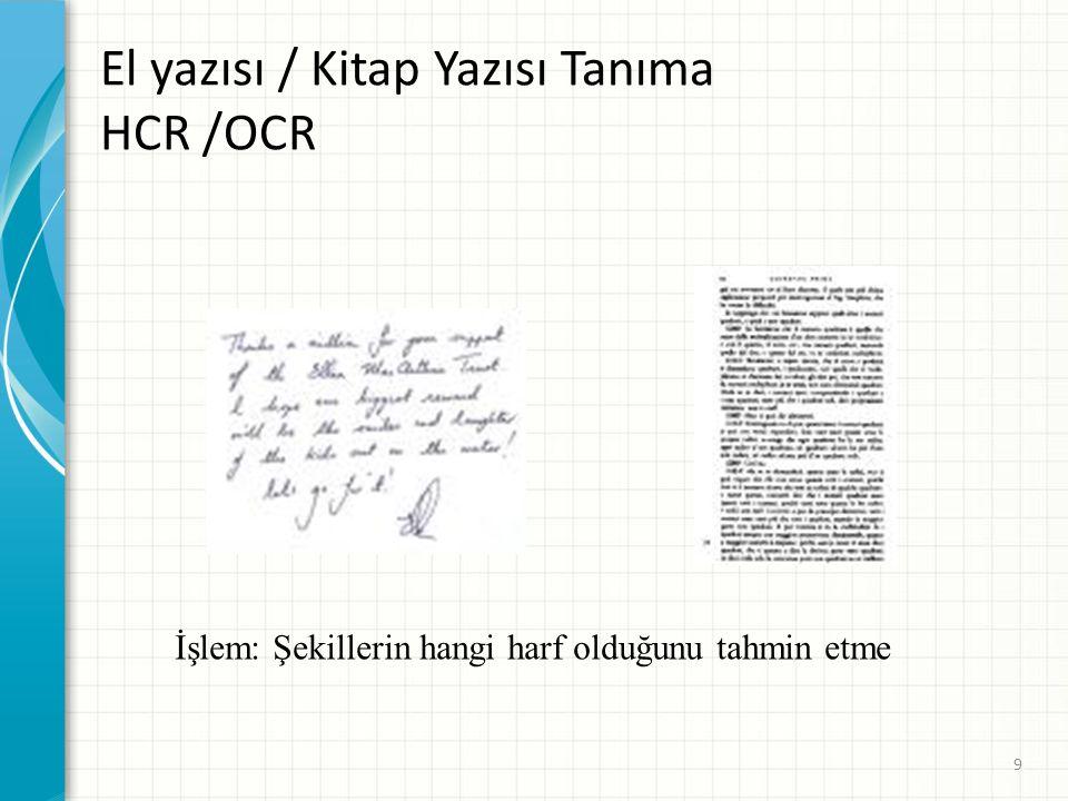 El yazısı / Kitap Yazısı Tanıma HCR /OCR