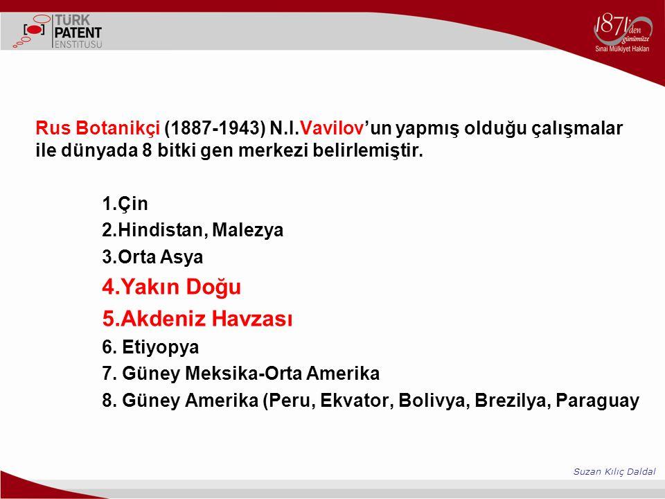 Rus Botanikçi (1887-1943) N.I.Vavilov'un yapmış olduğu çalışmalar ile dünyada 8 bitki gen merkezi belirlemiştir.