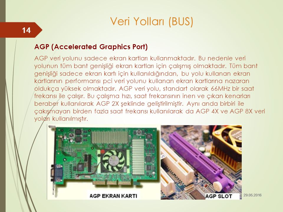 Veri Yolları (BUS) AGP (Accelerated Graphics Port)