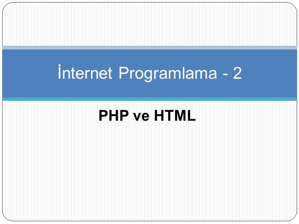 İnternet Programlama - 2