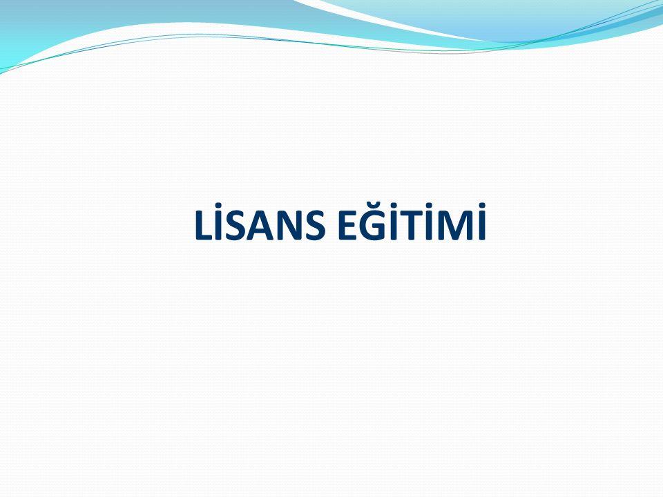 LİSANS EĞİTİMİ