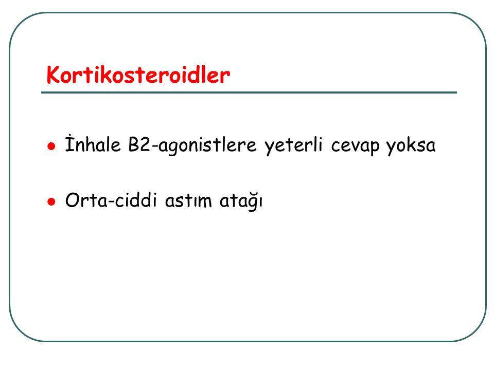 Kortikosteroidler İnhale B2-agonistlere yeterli cevap yoksa