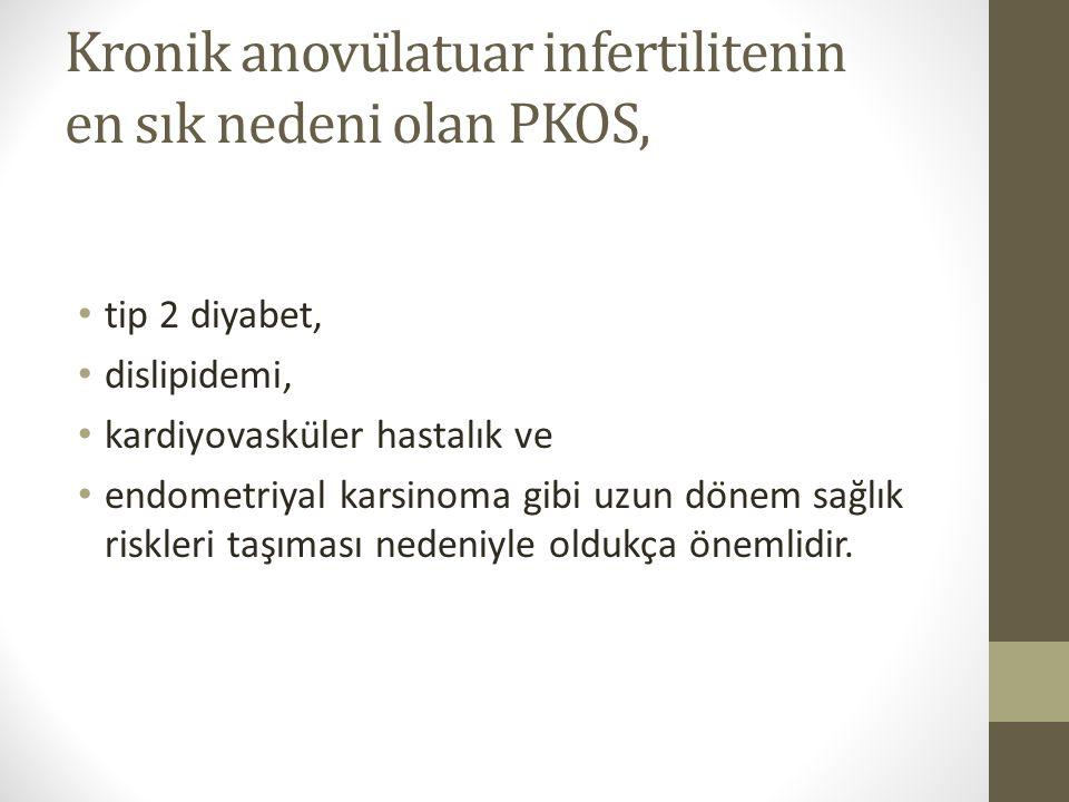 Kronik anovülatuar infertilitenin en sık nedeni olan PKOS,