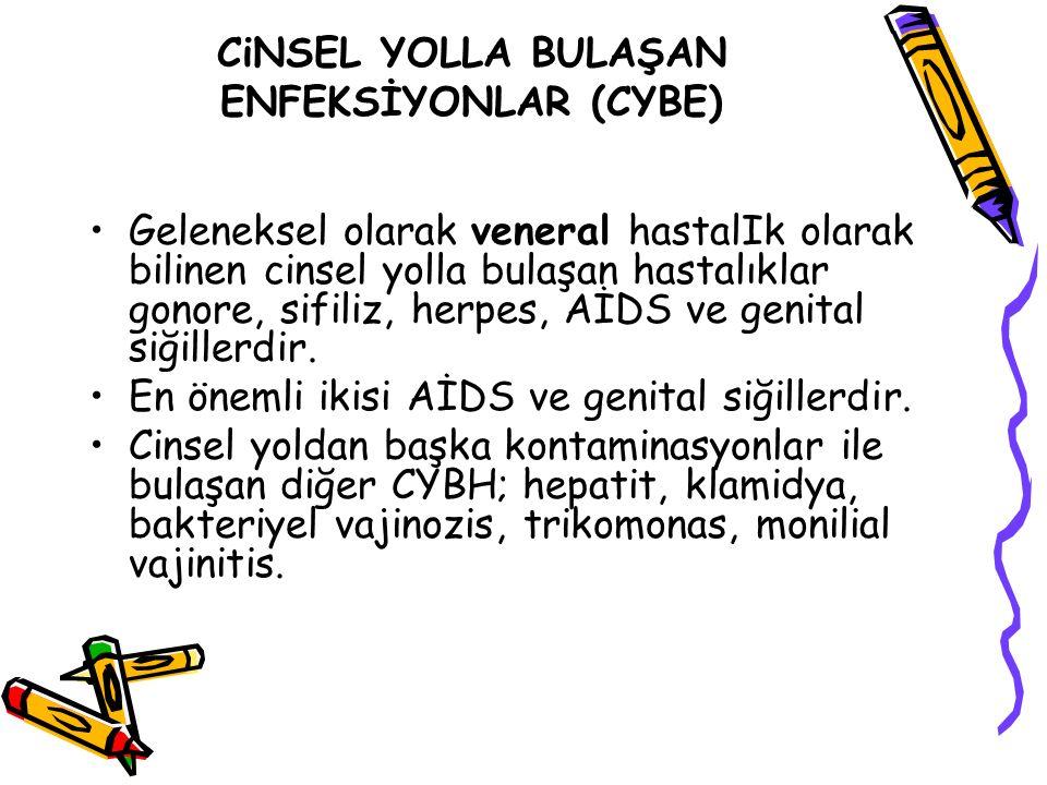 CiNSEL YOLLA BULAŞAN ENFEKSİYONLAR (CYBE)