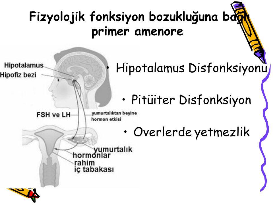 Fizyolojik fonksiyon bozukluğuna bağlı primer amenore