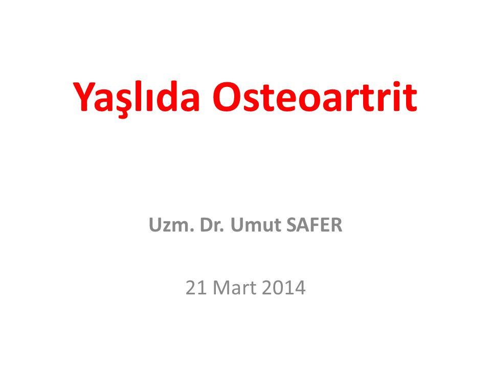 Tanım Osteoartrit (OA):