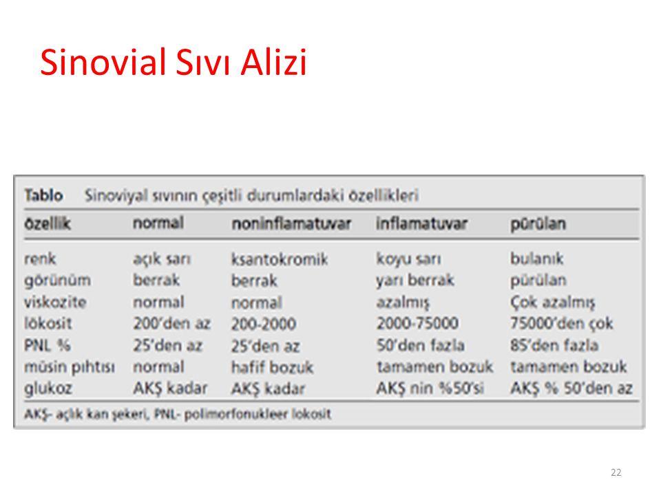 Enfeksiyöz artrit Ayırıcı Tanı RA Seronegatif SpA
