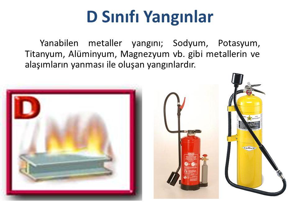 D Sınıfı Yangınlar