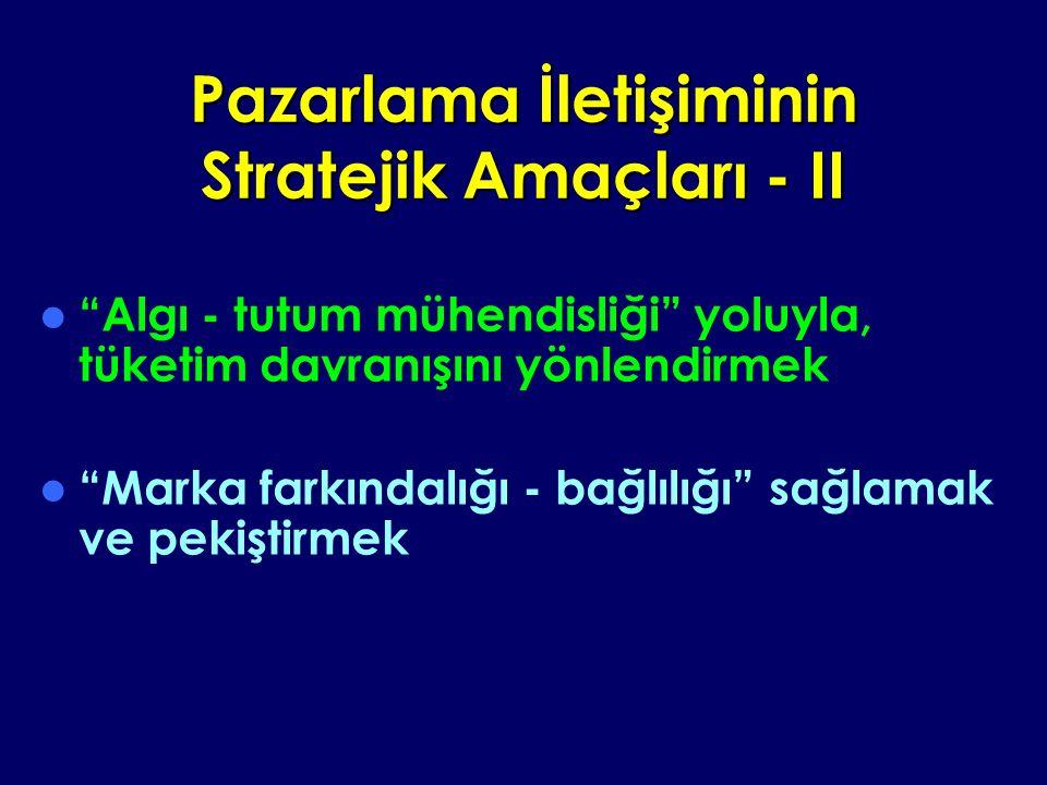 Pazarlama İletişiminin Stratejik Amaçları - II