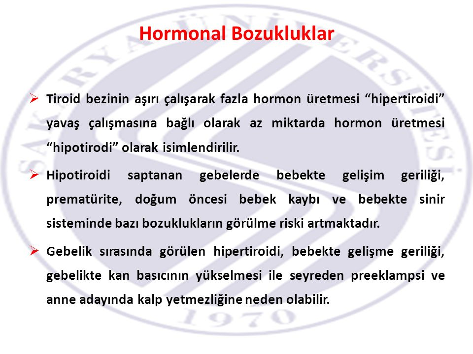 Hormonal Bozukluklar