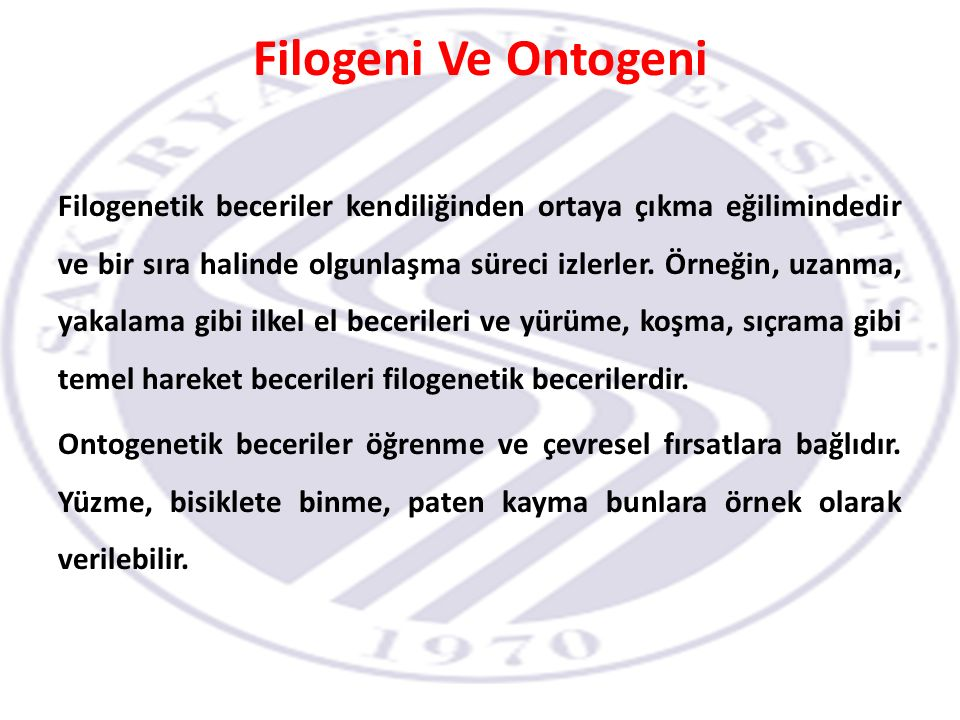 Filogeni Ve Ontogeni