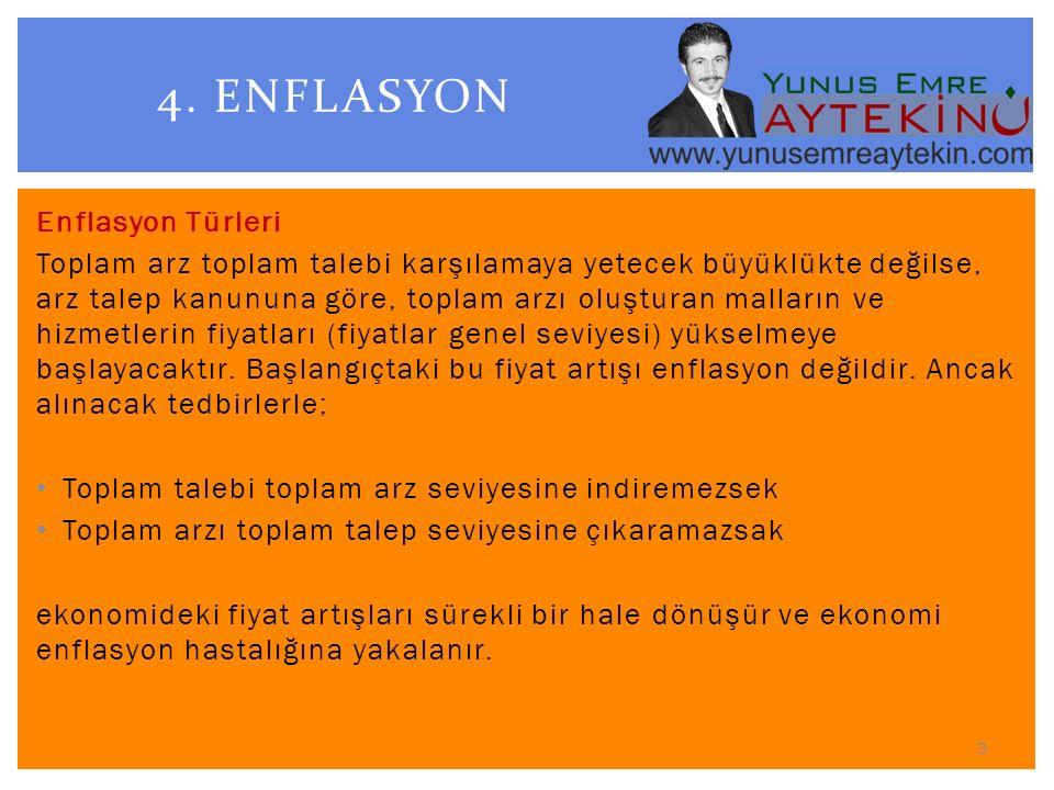 4. ENFLASYON Enflasyon Türleri