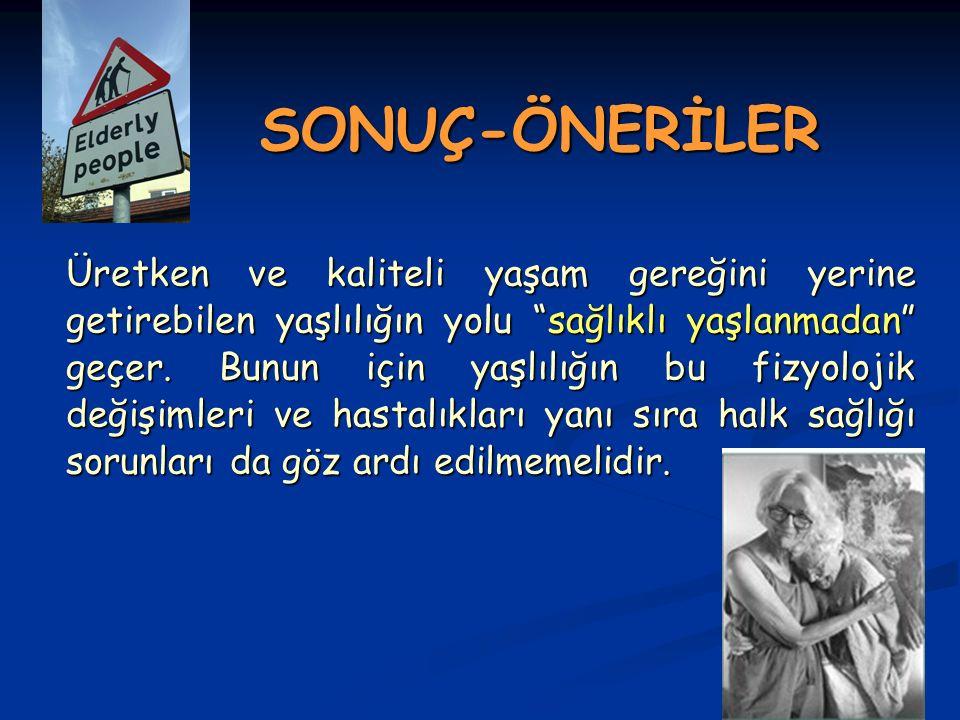SONUÇ-ÖNERİLER
