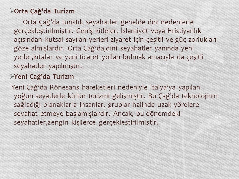 Orta Çağ'da Turizm