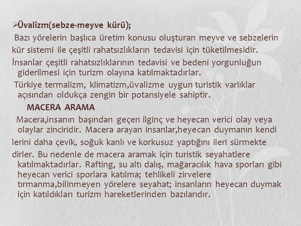 Üvalizm(sebze-meyve kürü);