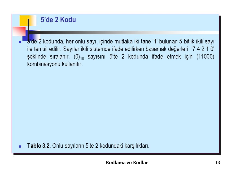 5'de 2 Kodu