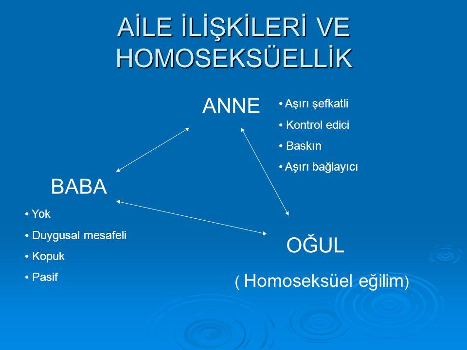 AİLE İLİŞKİLERİ VE HOMOSEKSÜELLİK