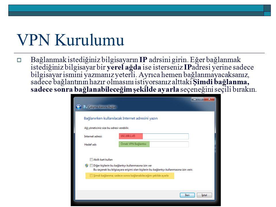 VPN Kurulumu