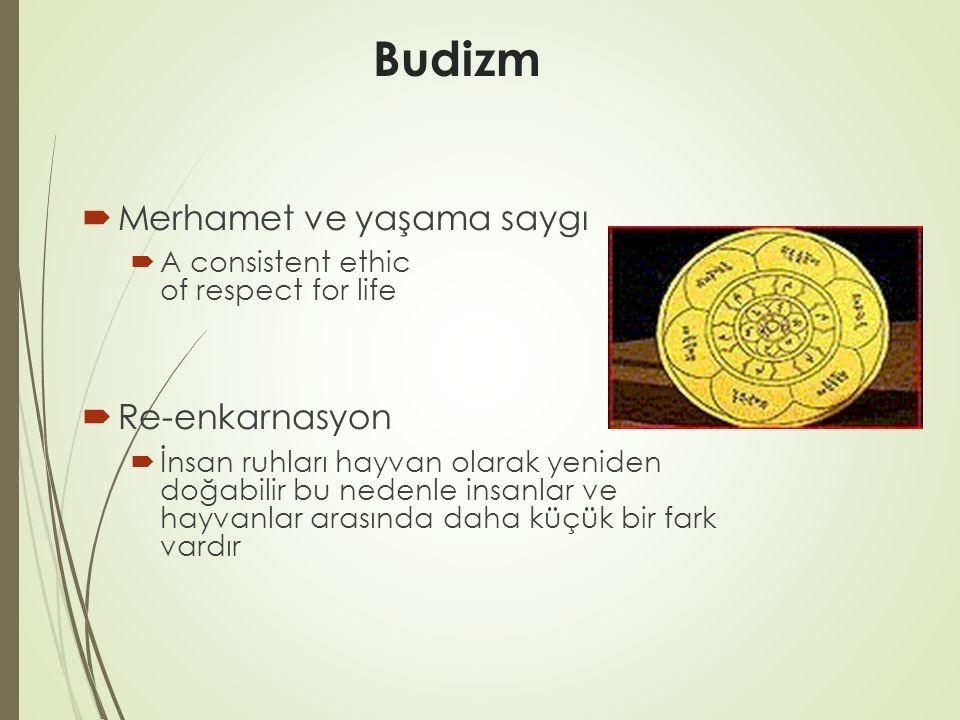 Budizm Merhamet ve yaşama saygı Re-enkarnasyon