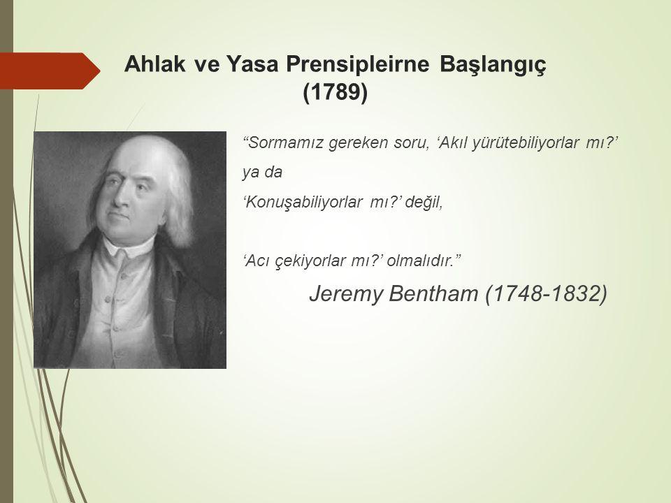 Ahlak ve Yasa Prensipleirne Başlangıç (1789)