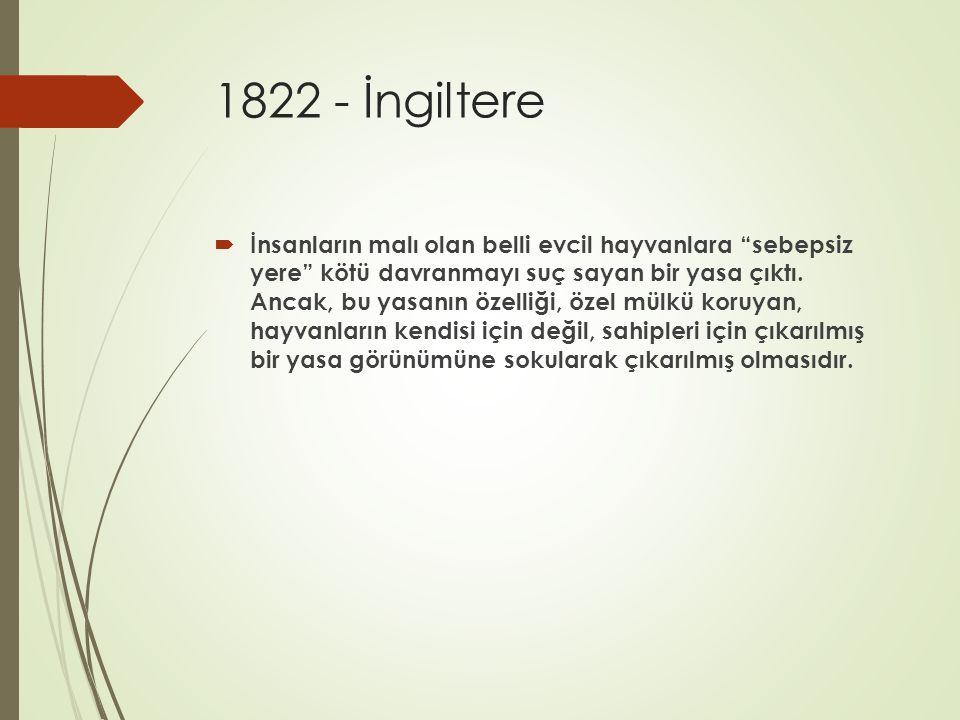 1822 - İngiltere