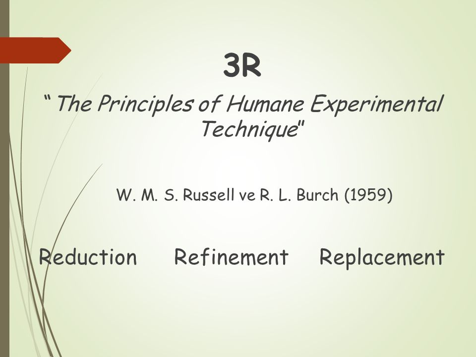 3R The Principles of Humane Experimental Technique