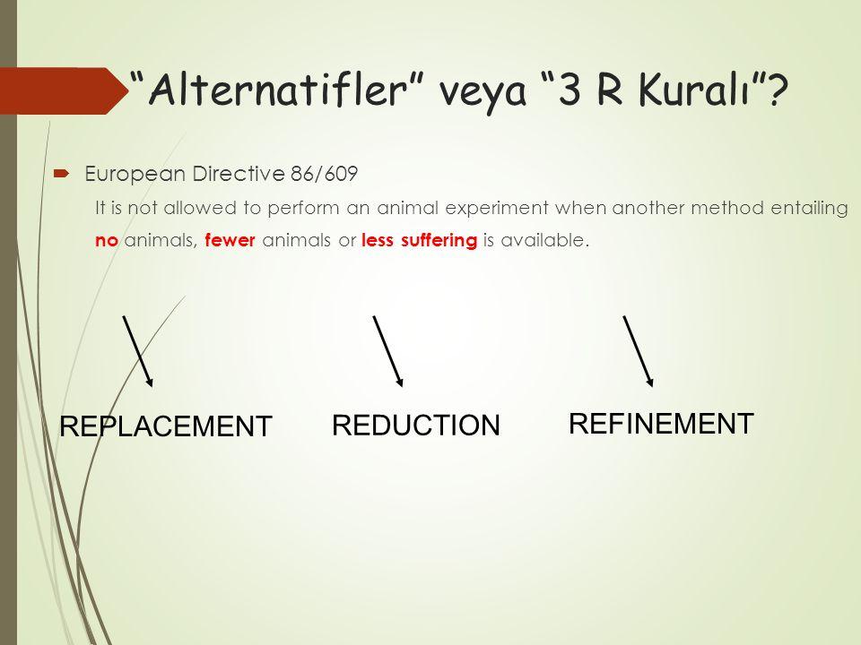 Alternatifler veya 3 R Kuralı