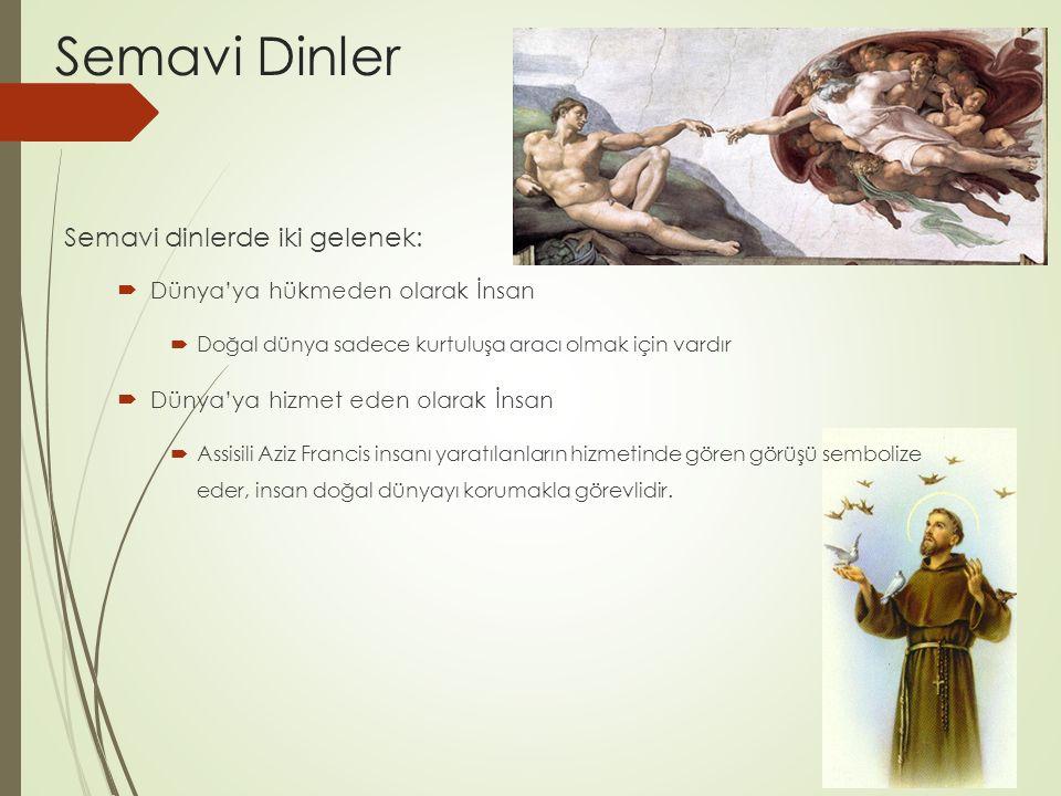 Semavi Dinler Semavi dinlerde iki gelenek: