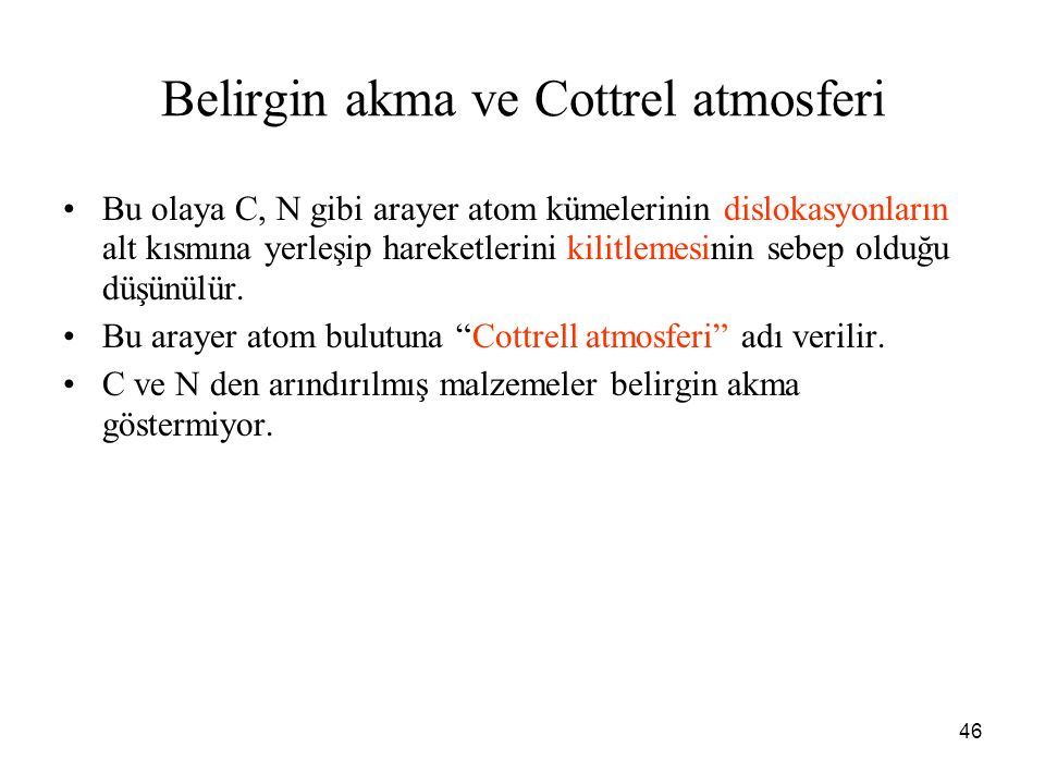 Belirgin akma ve Cottrel atmosferi