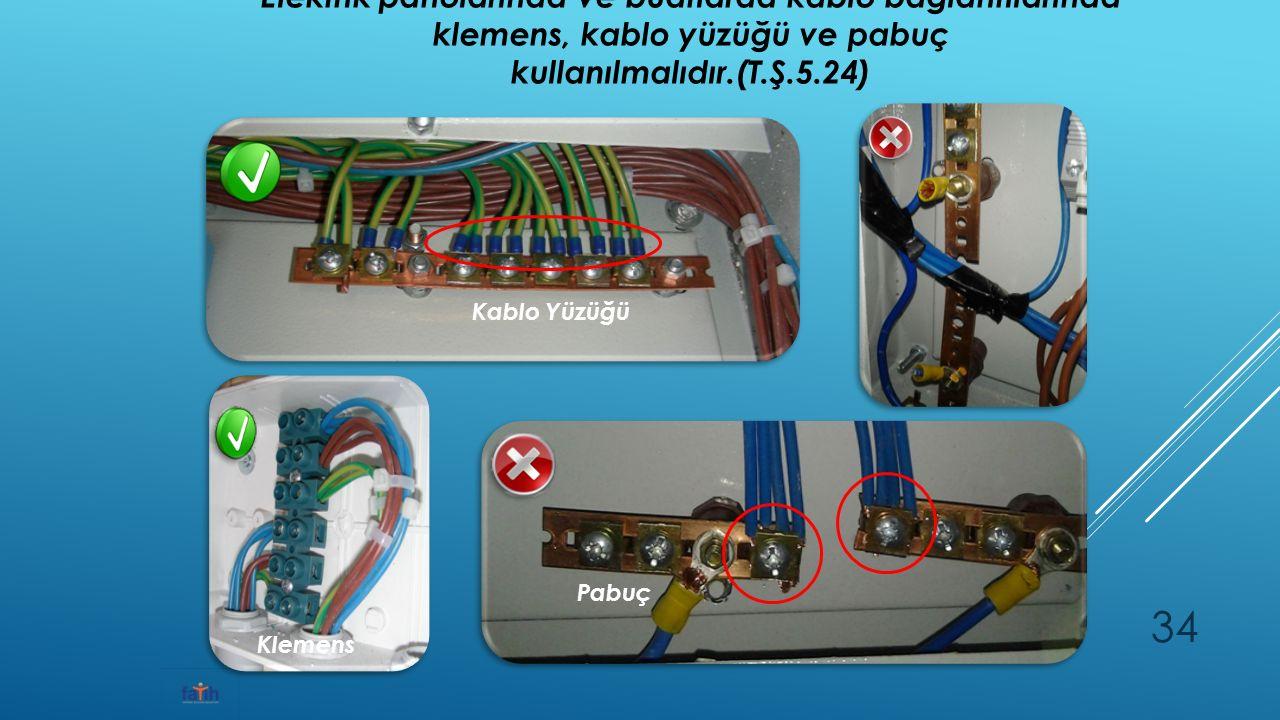 Elektrik panolarında ve buatlarda kablo bağlantılarında