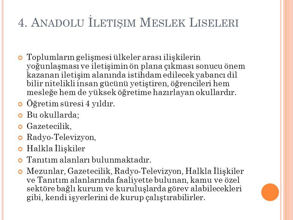 4. Anadolu İletişim Meslek Liseleri