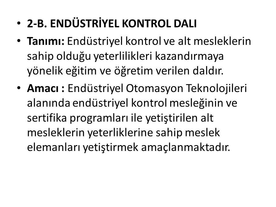 2-B. ENDÜSTRİYEL KONTROL DALI