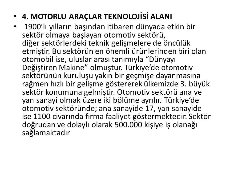 4. MOTORLU ARAÇLAR TEKNOLOJİSİ ALANI