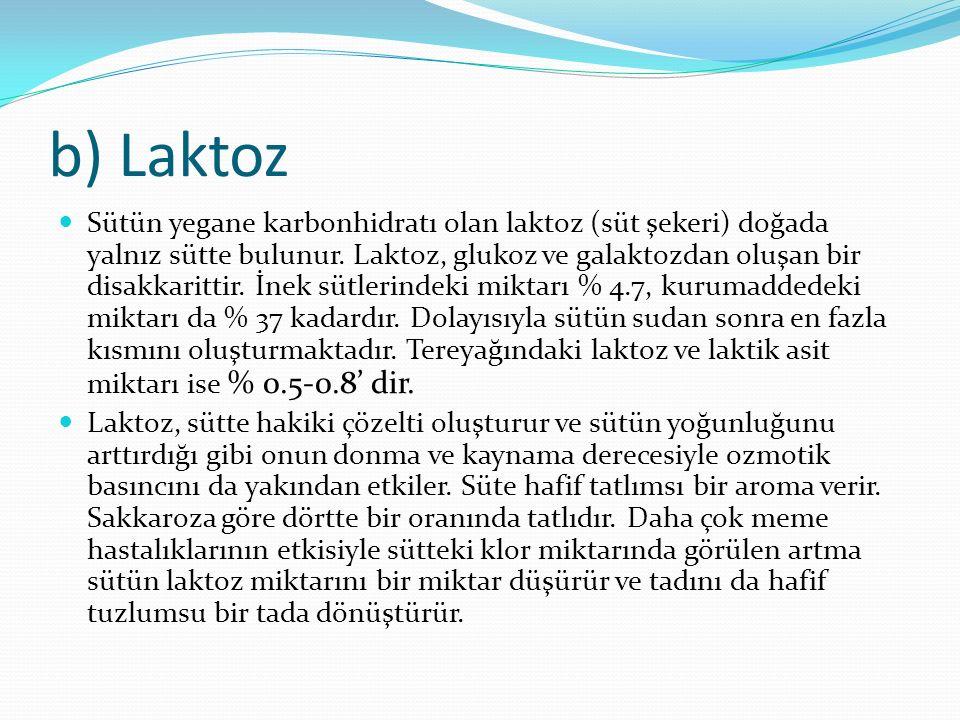 b) Laktoz