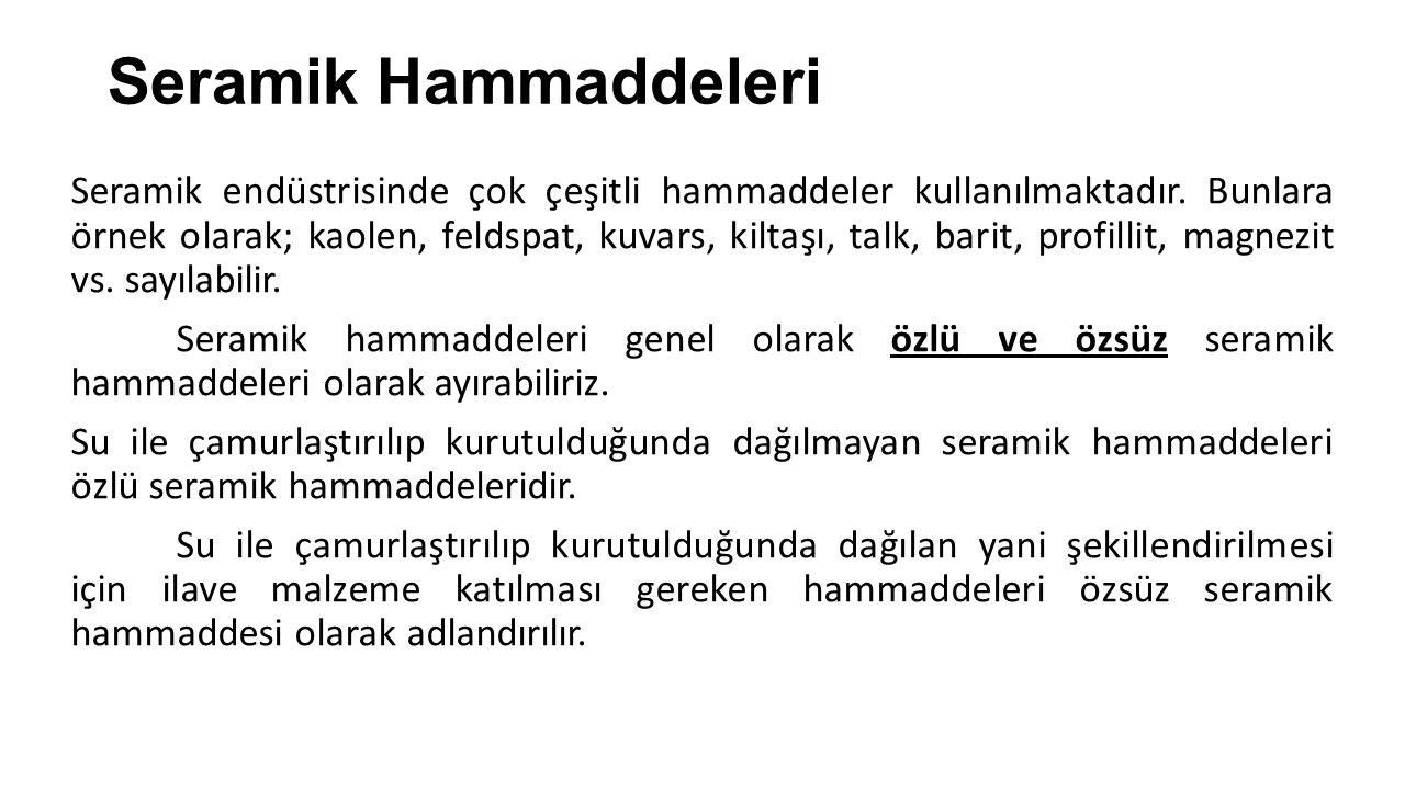 Seramik Hammaddeleri