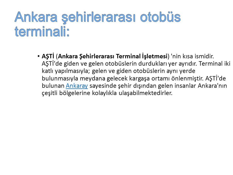 Ankara şehirlerarası otobüs terminali: