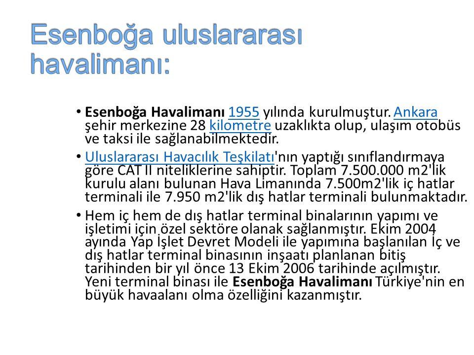 Esenboğa uluslararası havalimanı: